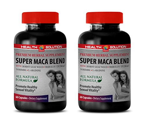 Male Enhancing Pills Erection Best Seller - Super MACA Blend - Promote Healthy Sexual Vitality - Horny Goat Weed Capsules for Men - 2 Bottles 120 Capsules
