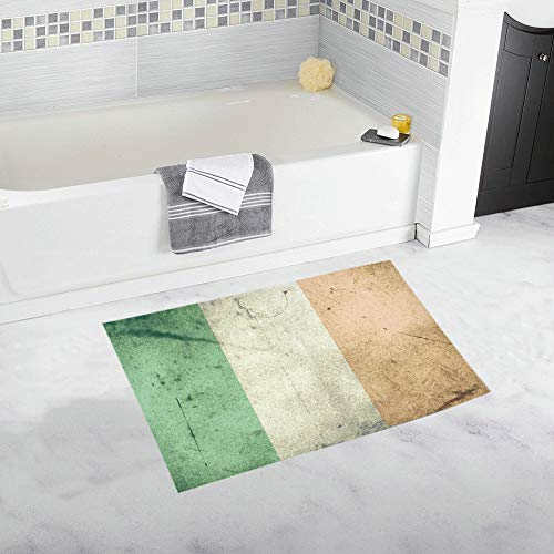 JOCHUAN Grunge Flag Irlanda Alfombra de baño Antideslizante Personalizada Alfombra de baño Alfombra de Piso Alfombra para baño 20 X 32 Pulgadas