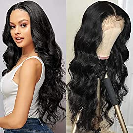 Persephone Synthetic Lace Front Wigs for Black Women Glueless Long Wavy Wigs with Natural Hairline Heat Resistant 22…