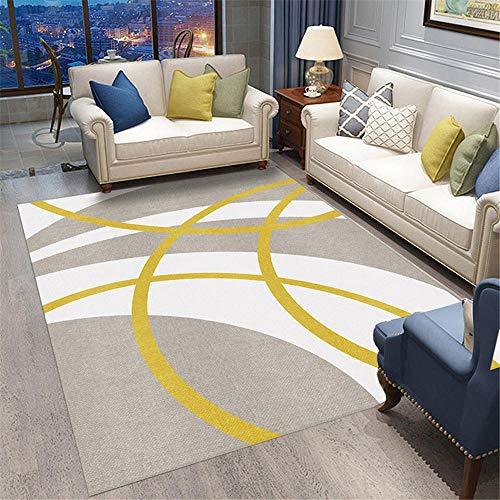 Kunsen alfombras salón Camas Modernas Alfombra Sala de Estar Dormitorio Moderno Rectangular Antideslizante Suave Antideslizante Muebles Sala de Estar 130X190CM 4ft 3.2' X6ft 2.8'