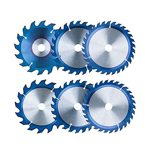 Tiempo DE ZUAN Dia 150 160mm Tcc Hoja de Sierra Circular for Madera Acrílico de plástico 16,24,30T Hoja de Sierra for Madera Disco de Corte Recubierto Azul de Madera (Color : 150x20mm 30T)