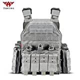 vAv YAKEDA Tactical Vest Military Airsof Vest for Men (Gray)