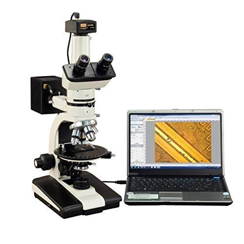 OMAX 50X-787.5X Trinocular Ore Petrographic Polarizing Microscope with Bertrand Lens and 14MP Camera