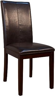 Amazon.com: Muebles de América Cypress polipiel Parson silla ...