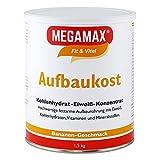 Megamax Aufbaukost Banane 1.5 kg. Trinknahrung hochkalorisch für Gewichtszunahme. Proteinpulver zur...