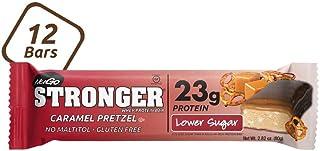 NuGo Stronger Caramel Pretzel, 23g Whey Protein, 9g Fiber, Gluten Free, 12 Count