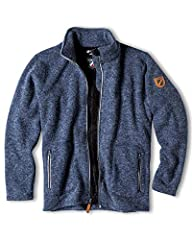 Fabric: 100% Polyester Sherpa-fleece lining: perfect for transition seasons to keep you warm on chilly days. Pockets: Sherpa-fleece lined hand-warmer pockets. Regular Fit: Great for layering underneath or wearing with a light layer for a casual look....