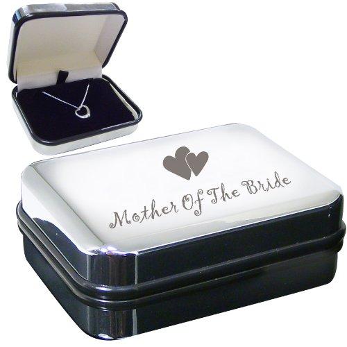 Preciosos collares especiales de boda y primera comunión (caja de collar de corazón de madre de novia)