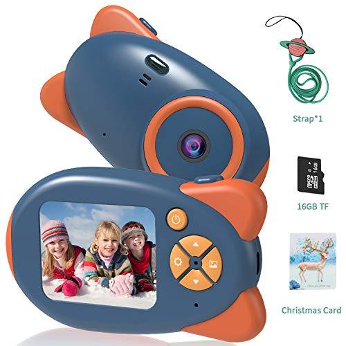 Kinderkamera Digitalkameras, Vannico Mini Kinder Kamera mit 16 TF Karte Weihnachtskarte, Videokamera, Geschenk für Mädchen und Jungen (Blau)