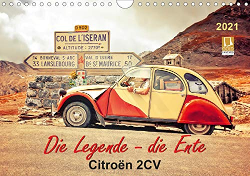 Die Legende - die Ente, Citroën 2CV (Wandkalender 2021 DIN A4 quer)