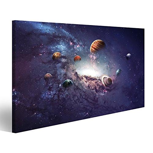 islandburner Bild Bilder auf Leinwand Sterne Galaxie Weltall Planeten Poster, Leinwandbild, Wandbilder