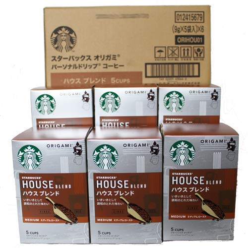 スターバックス 「Starbucks(R)」 ハウスブレンド (箱)オリガミ パーソナルドリップ コーヒー (9g×5袋×...