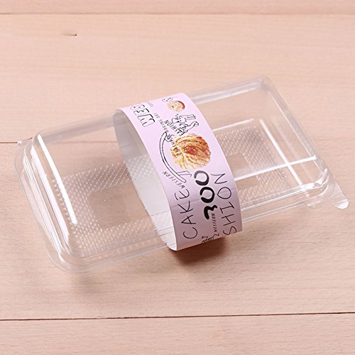 50/100 FBA Free All Clear Rectangular Shaped With Clear Dome Lid Pastry Food Container (50)