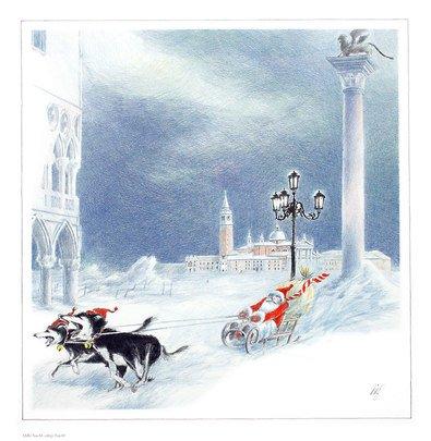 Germanposters Heinz Birg Poster Kunstdruck Bild Stille Nacht, eilige Nacht 46x45cm