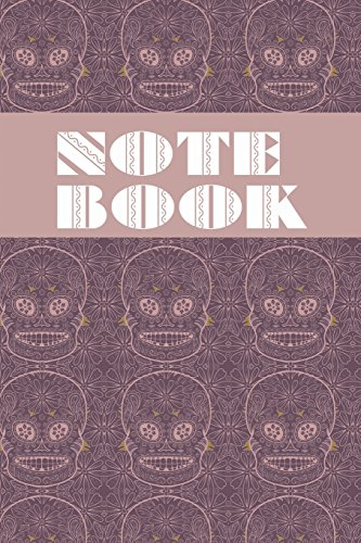 Notebook: Sugar Skull - Day of The Dead - Composition Book .  Cornell Notes  - Purple Sugar Skull Tiled
