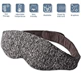 Rooftree-Heated-Eye-Compress-Mask, USB Sleep Mask for Puffy Eyes, Adjustable Temperature Time Control Eye Mask,with Comfortable Warm Or Cold Massage, Heated Eye Mask for Dark Circle and Dry Eyes