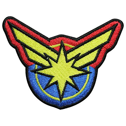 Captain Marvel Super Hero Movie Iron On Patch Naai op patch Geborduurde Patch/Badge voor kleding Shirts Jeans etc