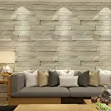 3D Carta da parati lavabile in stile cinese in mattoni di legno imitazione carta da parati in vinile 3D PVC in rilievo cucina soggiorno decorazione della casa-350cmx245cm
