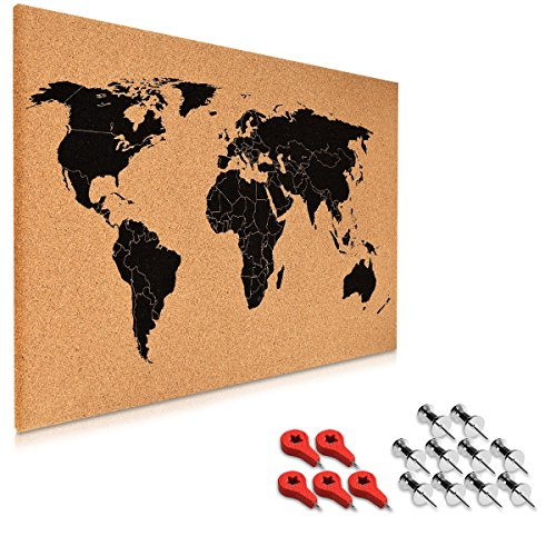 Navaris tablero notas corcho - tablero mapa mundo