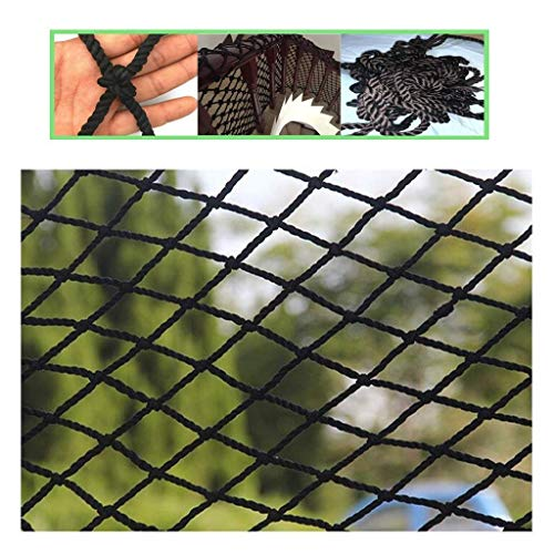 Best Prices! PLLP Safety Nets,Child Safety Outdoor Railing Net, Black Kids Pet Cat Protection Net Ba...