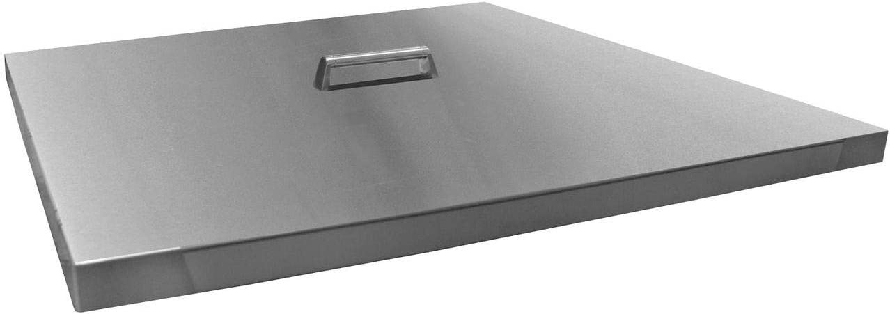 Firegear LID-32S Square Stainless Lid Max 82% OFF Oakland Mall with 5 Handle-34 8