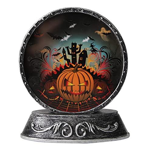 ShiftX4 Decorazioni di Halloween, Rame Retrò Halloween Lampada Ornamento, Zucca Scheletro Gatto Nero Candeliere Led Lampada