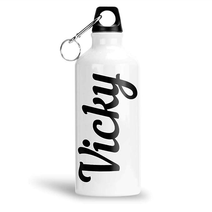 FurnishFantasy Aluminium White Sipper Bottle 600 ml