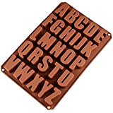 Vientiane 26 Letras Inglesas Chocolate Silicona Moldes, Moldes de Jabón, Molde de Silicona para...