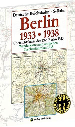 Übersichtskarte der Reichsbahndirektion Berlin 1933: Wanderkarte zum Taschenfahrplan der Rbd Berlin - Mai 1938