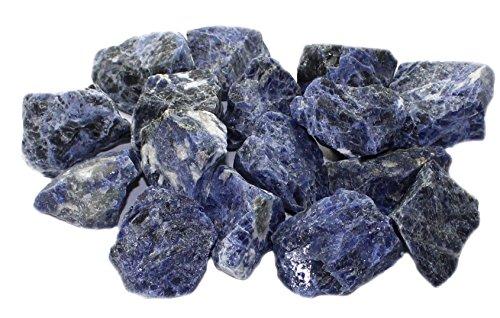 Sodalith Rohsteine Edelsteine (Brasilien) 1 kg, Brunnensteine Wassersteine