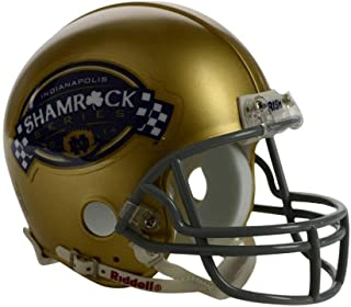 notre dame mini helmet shamrock series 2014