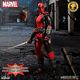 MEZCO ONE:12 COLLECTIVE EXCLUSIVE DEADPOOL WITH HEADPOOL