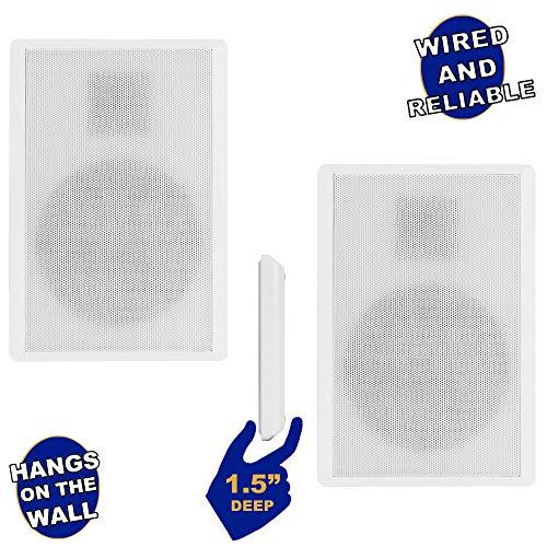 Acoustic Audio by Goldwood SLM1W Mountable On Wall Slim Speakers Home...
