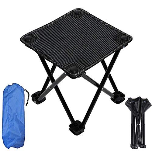 SMEJS Klappbarer Outdoor-Klappstuhl mit Aufhängung, tragbarer Mini-Klappstuhl, klappbarer Campinghocker, Klappstuhl für Grillen, Camping, Angeln, Reisen, Wandern