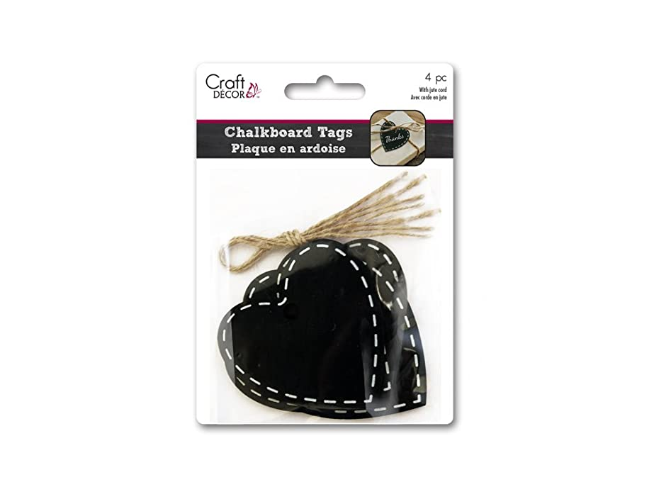 Craft Décor Heart Chalk-It-up Tags with Jute Cord