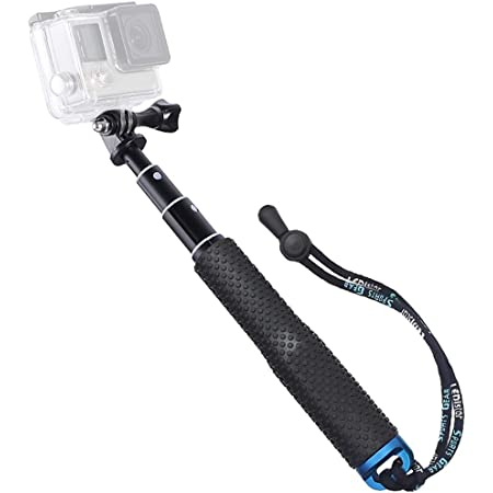 "Trehapuva Selfie Stick, 19"" Waterproof Hand Grip Adjustable Extension Monopod Pole Compatible with GoPro Hero(2018) Hero 9 8 7 6 5 4 3+ 3 2 1 Session, AKASO, Xiaomi Yi,SJCAM SJ4000 SJ5000 SJ6000 More"