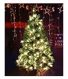 CASA CLAUSI Christmas Tree 4 Feet 100 pre-lit Multicolored Lights Artificial Green...