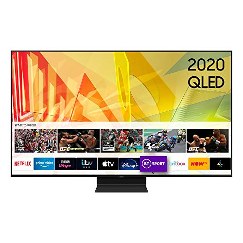 "Samsung 2020 65"" Q90T Flagship QLED 4K HDR 2000 Smart TV with Tizen OS Black"