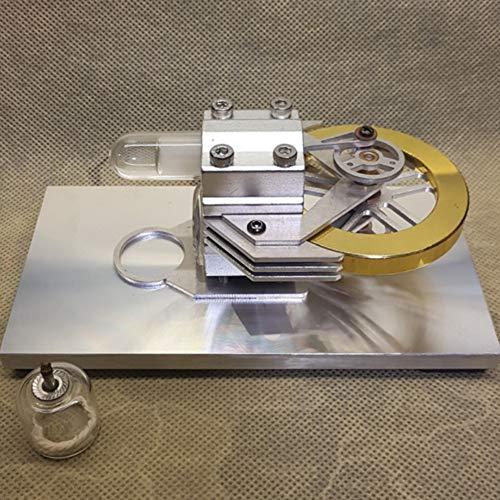 XFY Stirlingmotor, DIY Modell Kit Physik Spielzeug, Dampfmaschinenmodell mit Aluminiumsockel, Schwungrad aus Messing, Lernspielzeug für Kinder