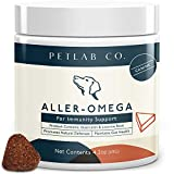 Petlab Co. Aller-Omega Chew   Supports Natural Defenses   Maintains Skin & Coat Condition   Supports Health & Wellbeing   Turmeric & Wild Alaskan Salmon Oil   Omega 3