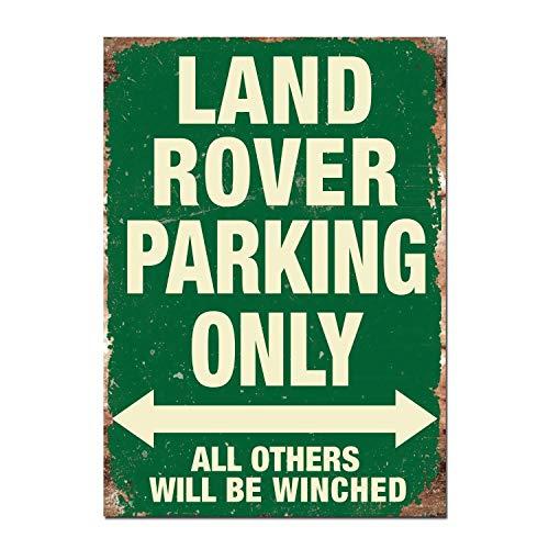 HALEY GAINES Land Rover Parking Only Targa in Metallo Decorazione Parete Cartello Vintage Appendere Poster retrò Muro Placca per Bar Cucine Bagni Garage Hotel Giardino 20×30cm