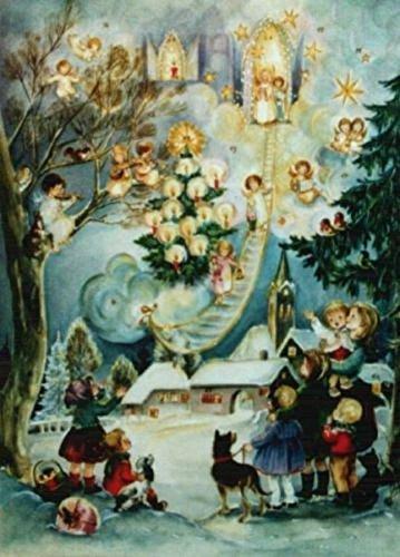 Sellmer Angel Village German Christmas Advent Calendar