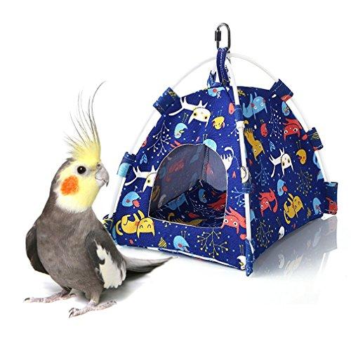 Keersi - Tienda de campaña Colgante para pájaros, para periquitos, periquitos, cacatúas, Canarios, pájaros, Perchas, pequeños y medianos