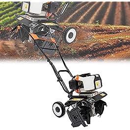 Motobineuse électrique Bineuse électrique Taber rotatif à essence à 2 accidents, brochette manuelle de l'EarthWewise…