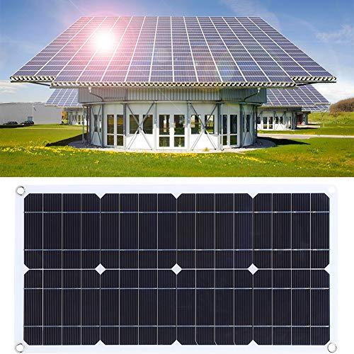 Kit de carga de panel solar semi flexible, panel solar doméstico liviano, camping de doble salida para embarcación exterior