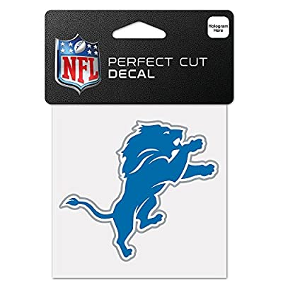 "WinCraft NFL Detroit Lions 63045011 Perfect Cut Color Decal, 4"" x 4"", Black"