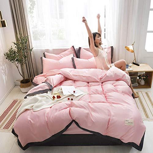 juegos de sábanas infantiles 105,Nordic Feng Shui Wash Silk Skin y cómodo kit de ropa de cama de cuatro piezas es manga de una sola almohada estudiante dormitorio anti-fruta anti-arrugas-GRAMO