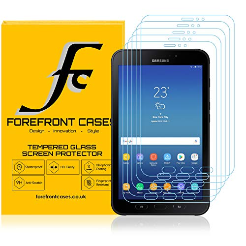 Forefront Cases Tempered Glass Screen Protector Guard Cover Film for Samsung Galaxy Tab Active 2 8.0' SM-T395 - HD Clartity Ultra Thin only 0.3mm - Pack of 5