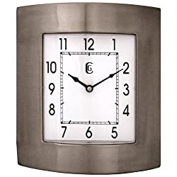 Geneva 10 by 11-Inch Metal Wall Clock