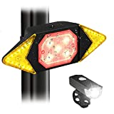 JNUYISW Bike Tail Light Turn Signals,Waterproof LED Rear Bike Light Brake Warning Light with Wireless Remote...